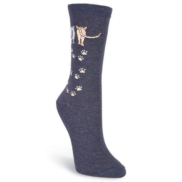 Cat Socks Catwalk - Denim Blue - 61316B