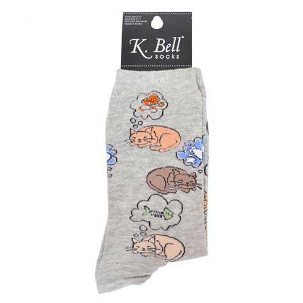Cat Nap Socks Dark Heather F15H074-01