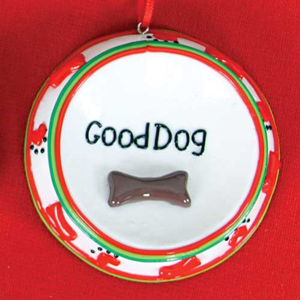 Good Dog Ceramic Christmas Ornament 81598GD