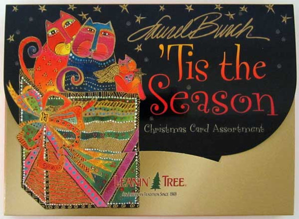 "Laurel Burch Christmas Card Assortment - 20 cards ""Tis the Season"" - AST90254"