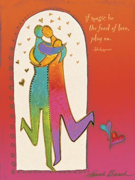 "Laurel Burch Card  Anniversary - ""Two Hearts"" - AVG44855"