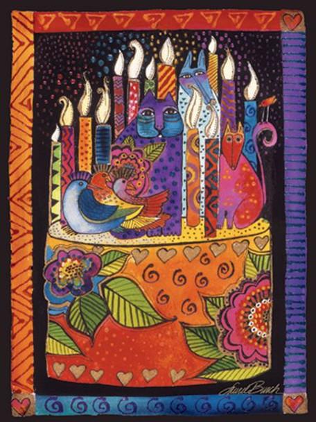 "Laurel Burch Card Birthday ""You Shine Brighter"" - BDG13234"