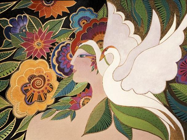 "Laurel Burch Card Birthday ""Swan Goddess"" - BDG13237"