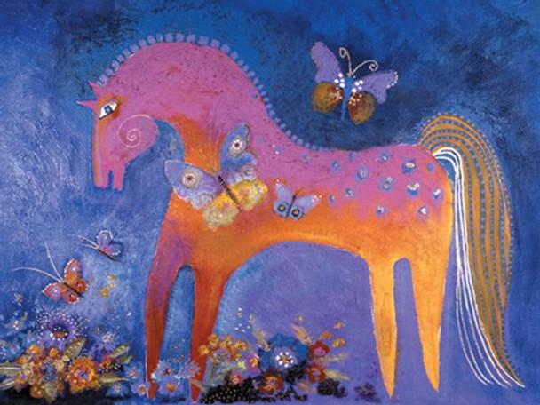 """Laurel Burch Card Birthday """"Mystical Mare"""" - BDG13239"""