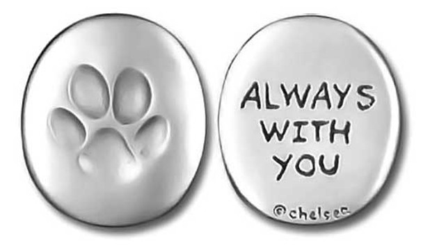 "Paw Print Memory Token Coin ""Always with You"" 0065"