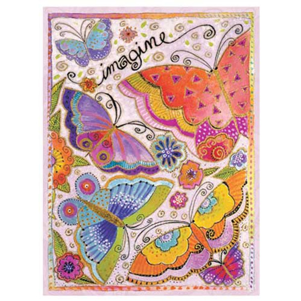 "Laurel Burch Card  Birthday - ""Imagine"" Butterfly - BDG44844"