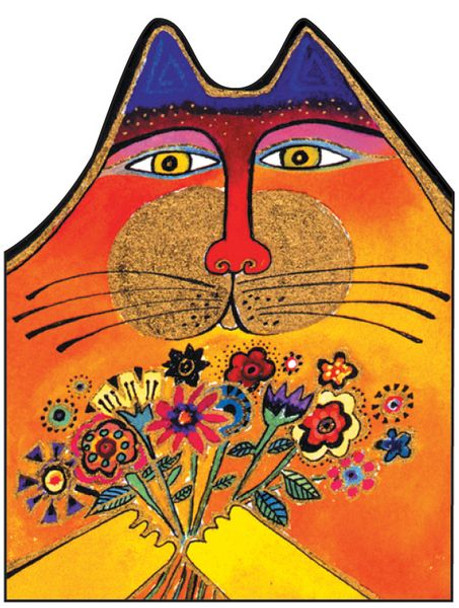 "Laurel Burch Card  Birthday - ""A Bunch of Love"" Cat - BDG44847"