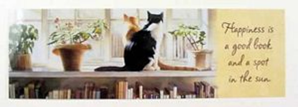 "Cat Theme Bookmarker ""Happiness is.."""