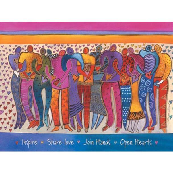 """Laurel Burch Card Encouragement """"Heart of Human Being"""" - ECG15652"""