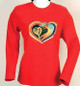 "Laurel Burch Long Sleeve Tee Shirt ""Heart of my Heart"" - LBC212"