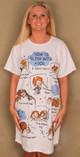 "Sleep Shirt or Coverup ""How to sleep with a Dog"" 507"