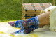 Laurel Burch Cat with Flowers Purple Crew Socks LBWS16H050-01