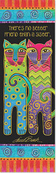 Laurel Burch Cat Bookmarker - No Better Friend than Sister