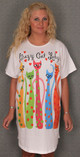 "Cat Theme Sleep Shirt Pajamas ""Crazy Cat Lady"" 530OT"