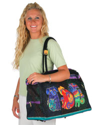 Laurel Burch Dogs And Doggies Travel Tote