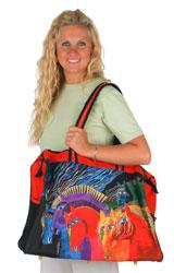Laurel Burch Wild Horses of Fire Travel Bag Overnighter