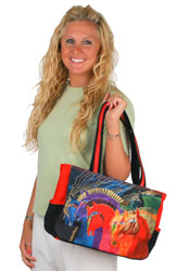 Laurel Burch Wild Horses of Fire Medium Bag