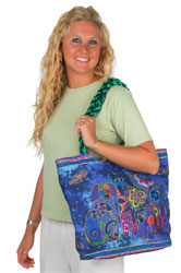 Laurel Burch Canine Family Large Scoop Tote