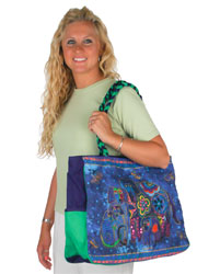 Laurel Burch Canine Family Oversized Tote