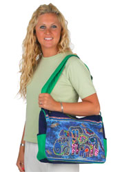 Laurel Burch Canine Family Medium Bag