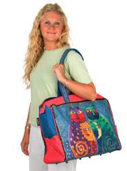 Laurel Burch Celestial Felines Travel Bag Overnighter