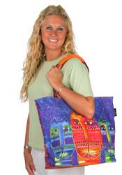 Laurel Burch Three Amigos Shoulder Tote Bag