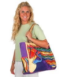 Laurel Burch Wind Spirit Oversized Tote Bag
