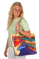 Laurel Burch Wind Spirit Scoop Tote Bag