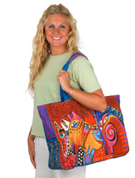 Laurel Burch Laughing Mares Oversized Tote Bag