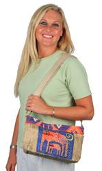 Laurel Burch Zig Zag Gatos Crossbody Bag