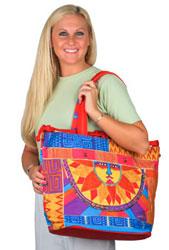 Laurel Burch Celestial Sun Spirit Drawstring Bag