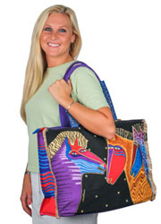 Laurel Burch Talking Horses Oversized Tote