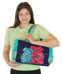 Laurel Burch Blossoming Pups Medium Tote LB5562