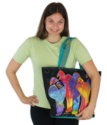 Laurel Burch Brazilian Birds Shoulder Tote LB5780