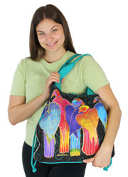 Laurel Burch Brazilian Birds Drawstring LB5781