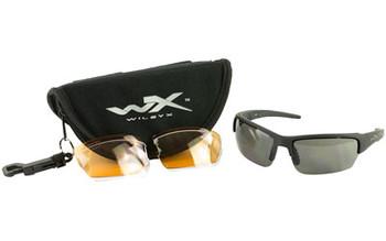 bd38f4b826 Wiley X Eyewear CHSAI06 Saint Safety Glasses Smoke Grey Clear Matte Black  Frame