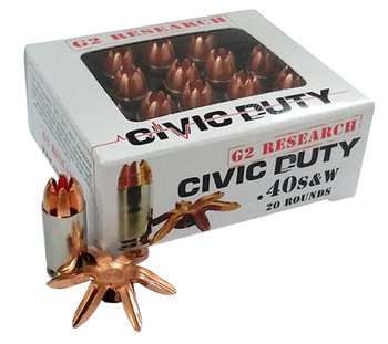 G2 Research  Civic Duty   40 S&W 122 GR Copper EXP