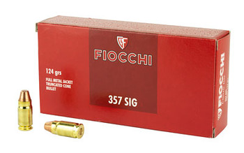 Fiocchi 357Sig 124 Grain Weight FMJ 50/1000