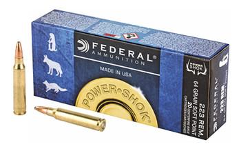 Federal Pwrshk 223Rem 64 GR SP 20/200 223L