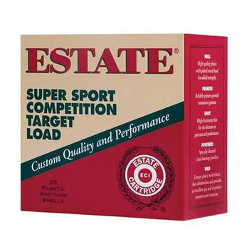 ESTATE CARTRIDGE Super Sport Competition Target Load Shotshell 12 GA, 2-3/4 in, No. 8, 1-1/8 oz, 2-3/4 Dr, 1145 fps