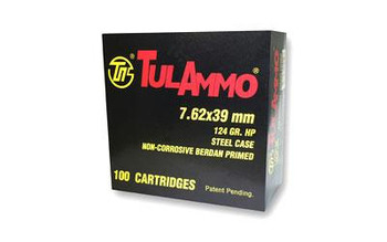 Tula 7.62X39 124 Grain Weight HP 100/1000