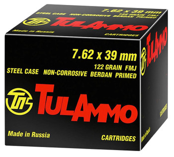 Tula 7.62X39 122 Grain Weight FMJ 40/1000 UL076240