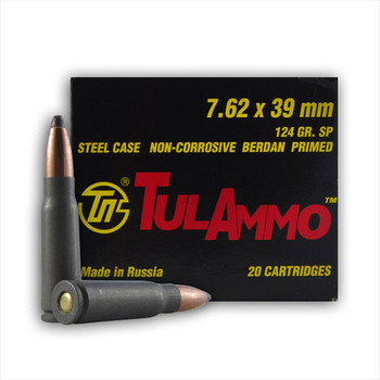 Tula 7.62X39 124 Grain Weight FMJ 100/1000