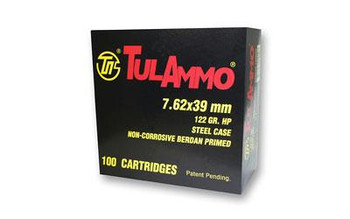 Tula 7.62X39 122 Grain Weight HP 100/1000