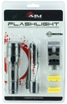Aim Sports FHD500B Flashlight With Offset Mount 500 Lumens  Black