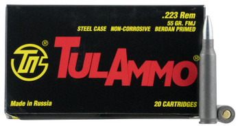Tula 223Rem 55 Grain Weight FMJ NC 20/1000