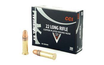 CCI 22Lr Tactical 40 Grain Weight Cprn 300/3000
