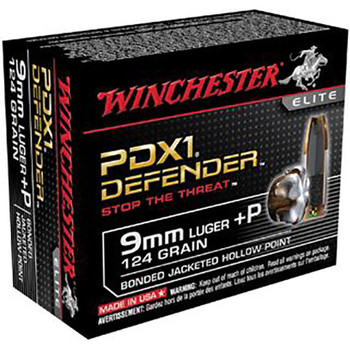 Winchester Defender 9MM 124 Grain Weight JHP 20/20