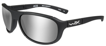 WILEY X Ace Sunglasses - Polarized Silver Flash Lens/Matte Black Frame