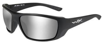 WILEY X Kobe Sunglasses - Grey Silver Flash Lens/Matte Black Frame